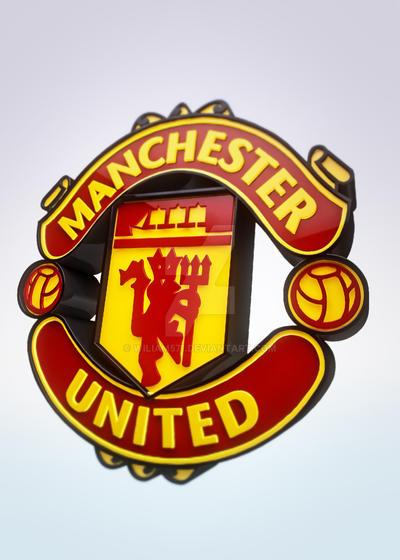 manchester united logo 3d by wiliam571 on deviantart