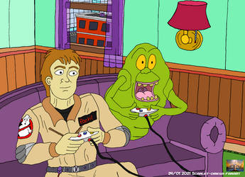 Ghostbusters [ Slimer's new friend] by Scarlet-omega