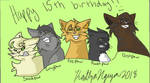 Happy 15th birthday Warriors!