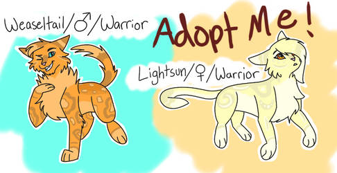 CLOSED Warriors Adopts by iycewing