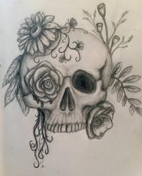 Flower Skull by azul013
