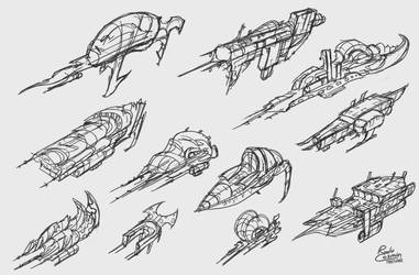 Spaceship Thumbnails by Frostwindz