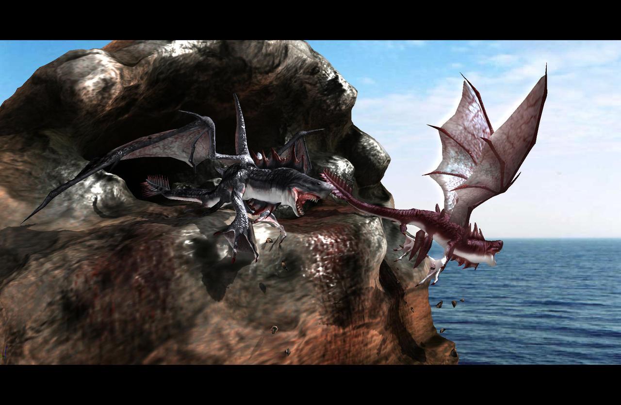 dragon shark by ibizanhound on deviantart