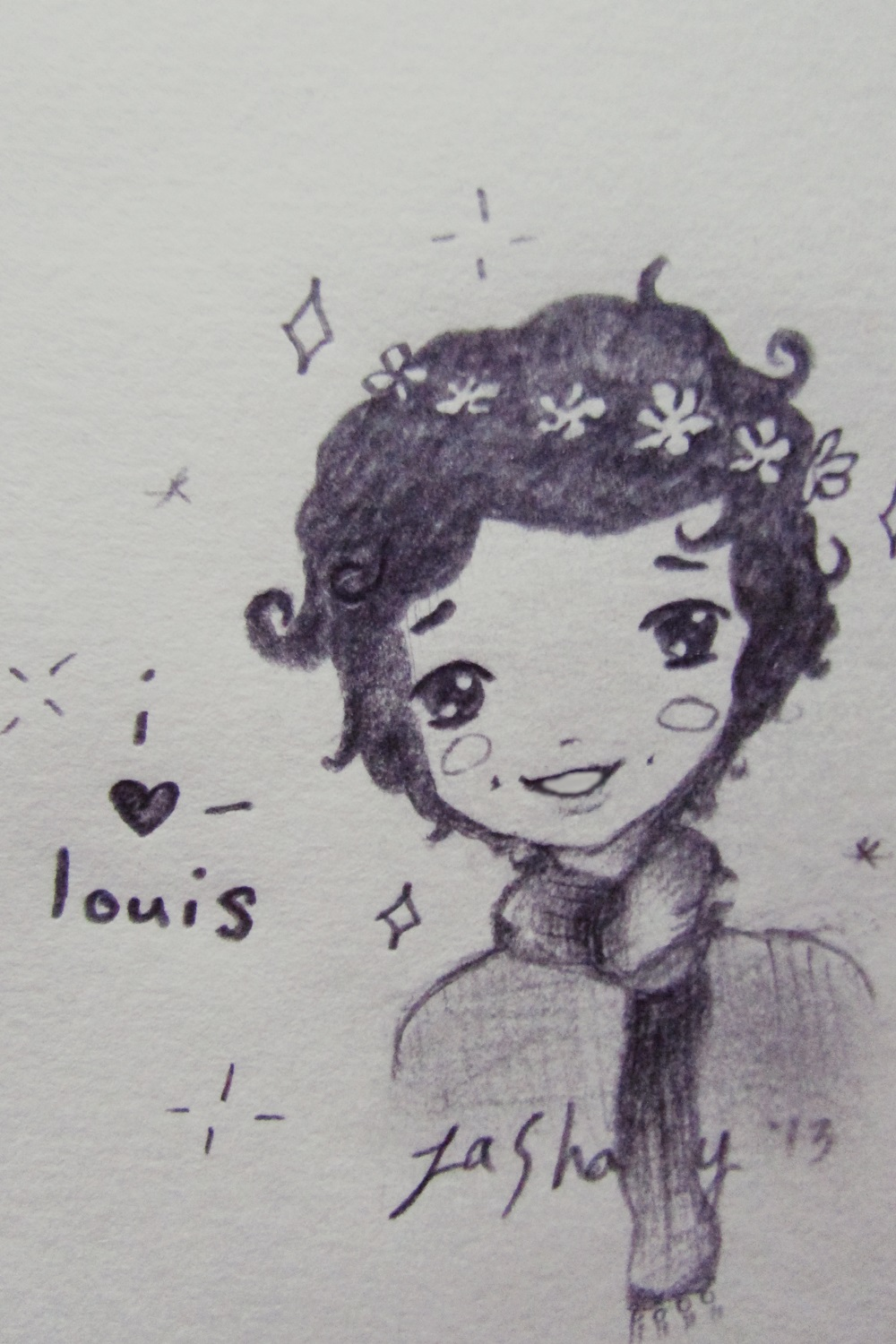 Harry Styles Flower Crown Drawing Harry styles flower child