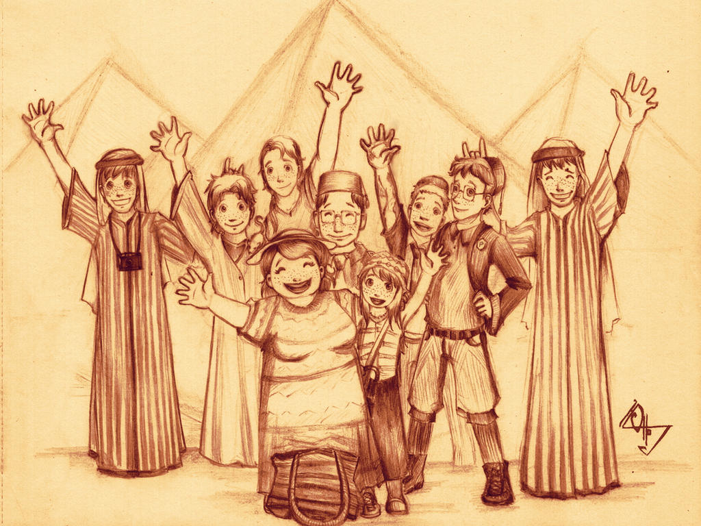 3- The Weasley Family in Egypt by Ottowl on DeviantArt