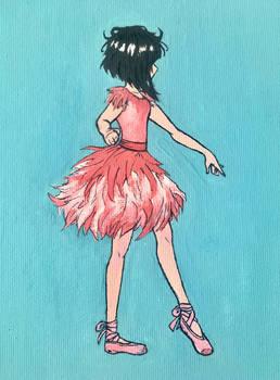 flamingo ballerina girl