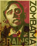 ZOMBAMA - BRAINS weathered grn