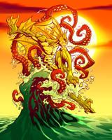DARKSTALKERS: RIKUO color by pop-monkey