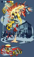 SESAME STREET FIGHTER by pop-monkey