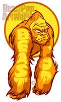 YELLOW GORILLA ARMS sticker
