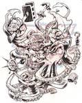 GORILLA VS. SQUID inks