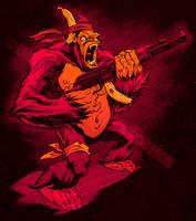 MACHINE GUN GORILLA colors by pop-monkey