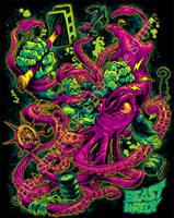 GORILLA VS. ARCHITEUTHIS shirt color by pop-monkey