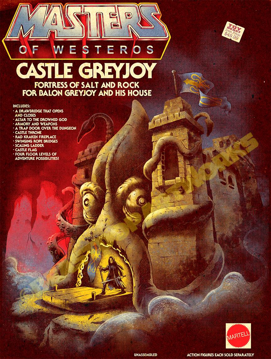 MASTERS OF WESTEROS: CASTLE GREYJOY by pop-monkey