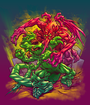 BIG ANGRY MONSTERS box cover color