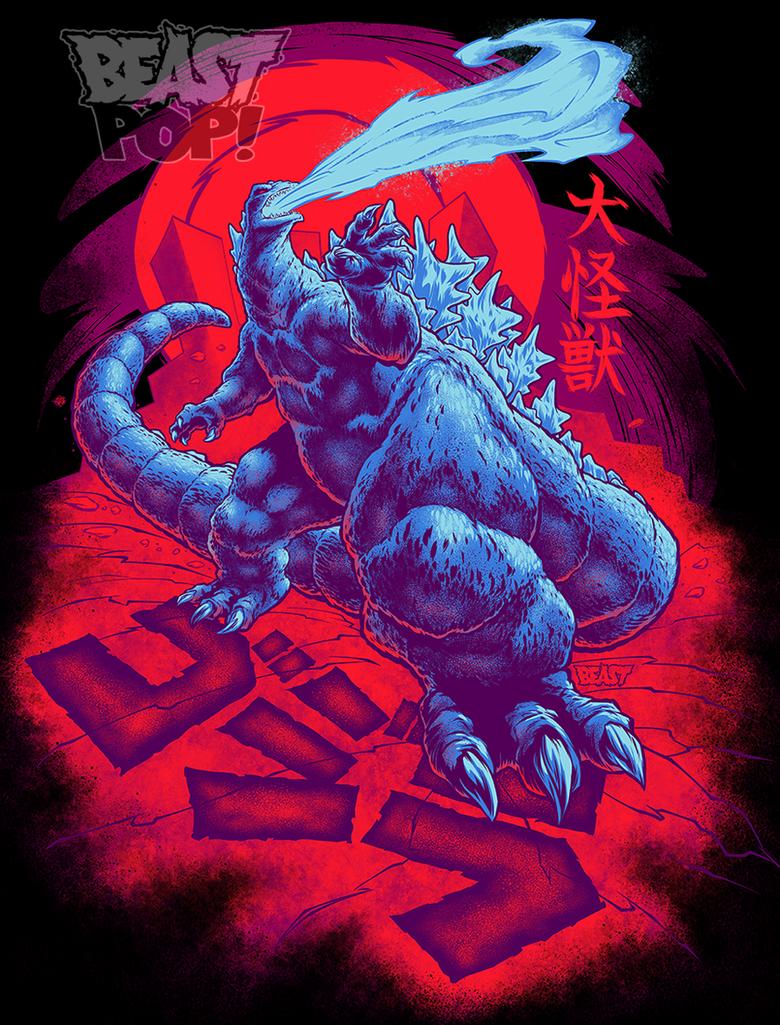GOJIRA: DAIKAIJU KING final colors by pop-monkey