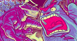 GODZILLA VS. TOTORO final color detail by pop-monkey