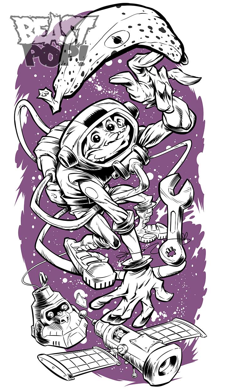 SPACEMONKEY inks by pop-monkey