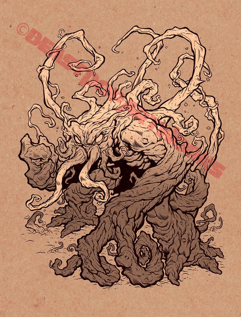 INHUMANOIDS: TENDRIL inks by pop-monkey