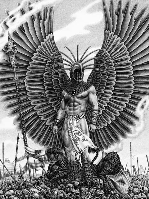 Aztec Warrior future tattoo by ipwnnoobs on DeviantArt  Aztec Pencil Drawings