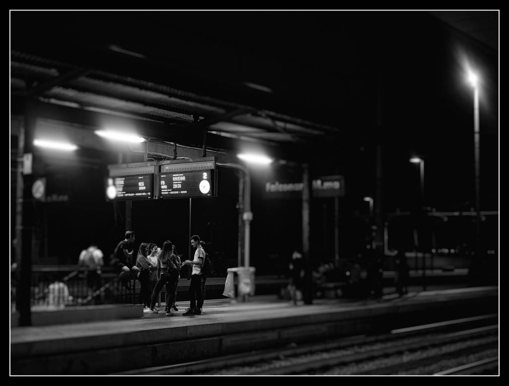 Railway At Night by 1Eres