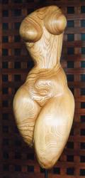 standing torso in ash wood by gecko-online