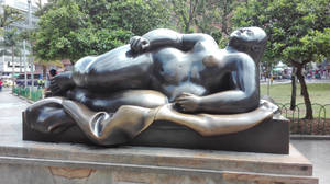 Fernando Botero Reclined woman