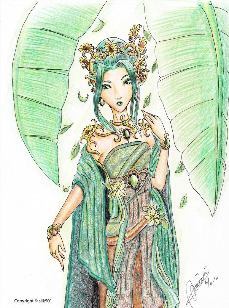 Green Batik by silk501