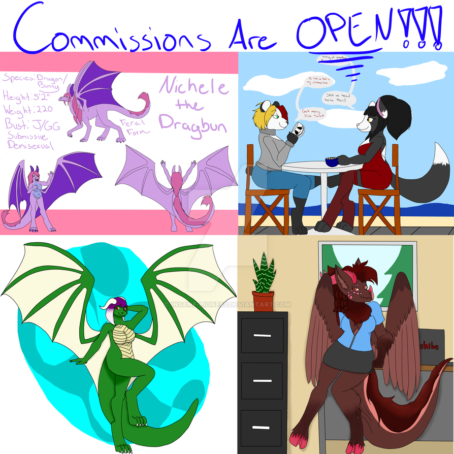Commissions Are Open by Insane-Lioness