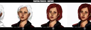 PAINTING PROCESS - Shepard steps