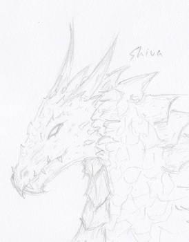 Dragon head sketch 2