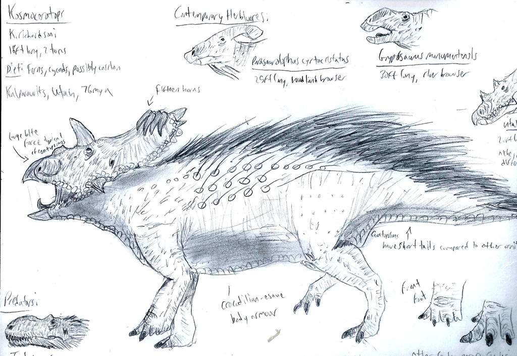 Kosmoceratops Infographic by RajaHarimau98
