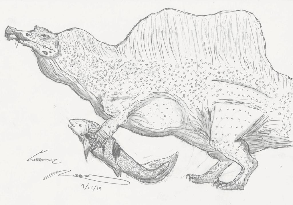 Spinosaurus for Thomas Holtz by RajaHarimau98