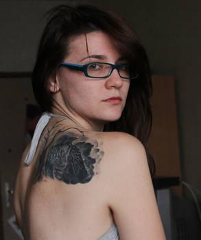 ID Crow tattoo