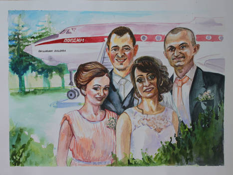 Commission portrait - wedding gift