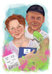 Commission portrait - couple