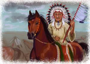 Indian chief commission portrait