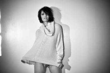 she rocks the shirt by Lazyi-Photography