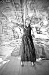 experimental fashion portrait