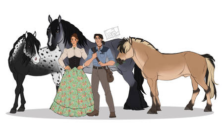 June and Forest and their horses