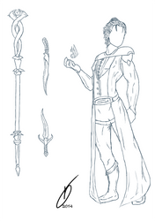 Concept Mage Male by MsTaz511