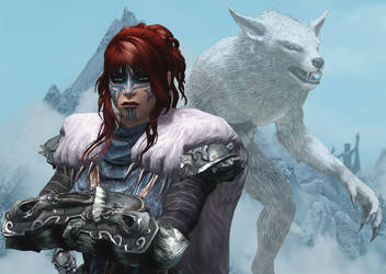 The White Wolf by MsTaz511