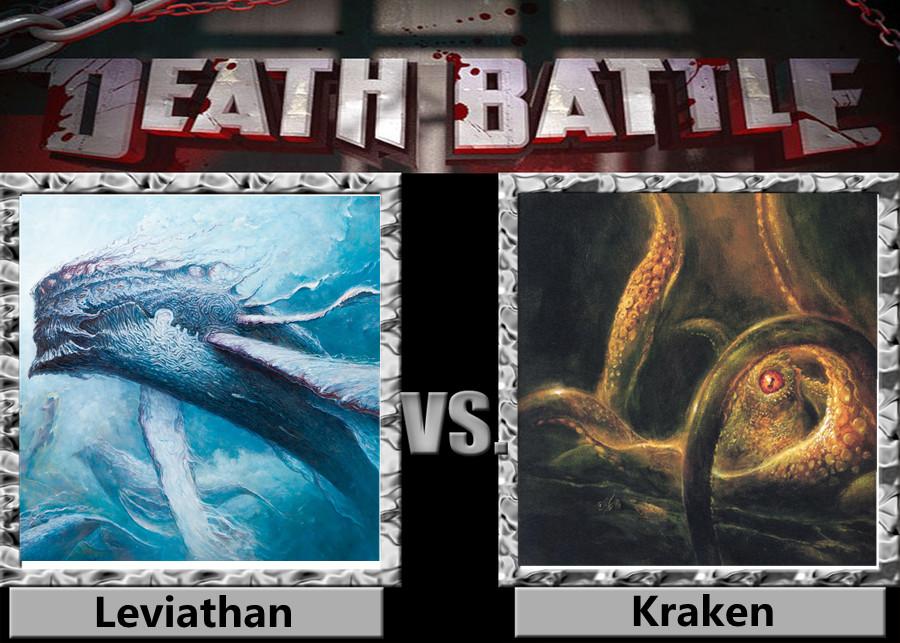 Death Battle - Leviathan VS Kraken by a1236gh on DeviantArt