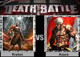 Death Battle - Kratos vs Asura by a1236gh