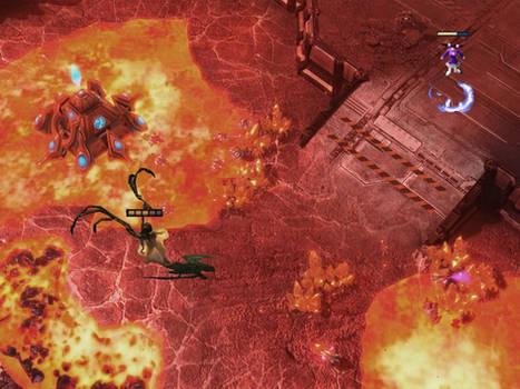 Kerrigan VS Yuriko Omega on Starcraft 2 map