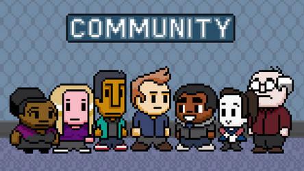 Community 8-bit wallpaper by zequihumano