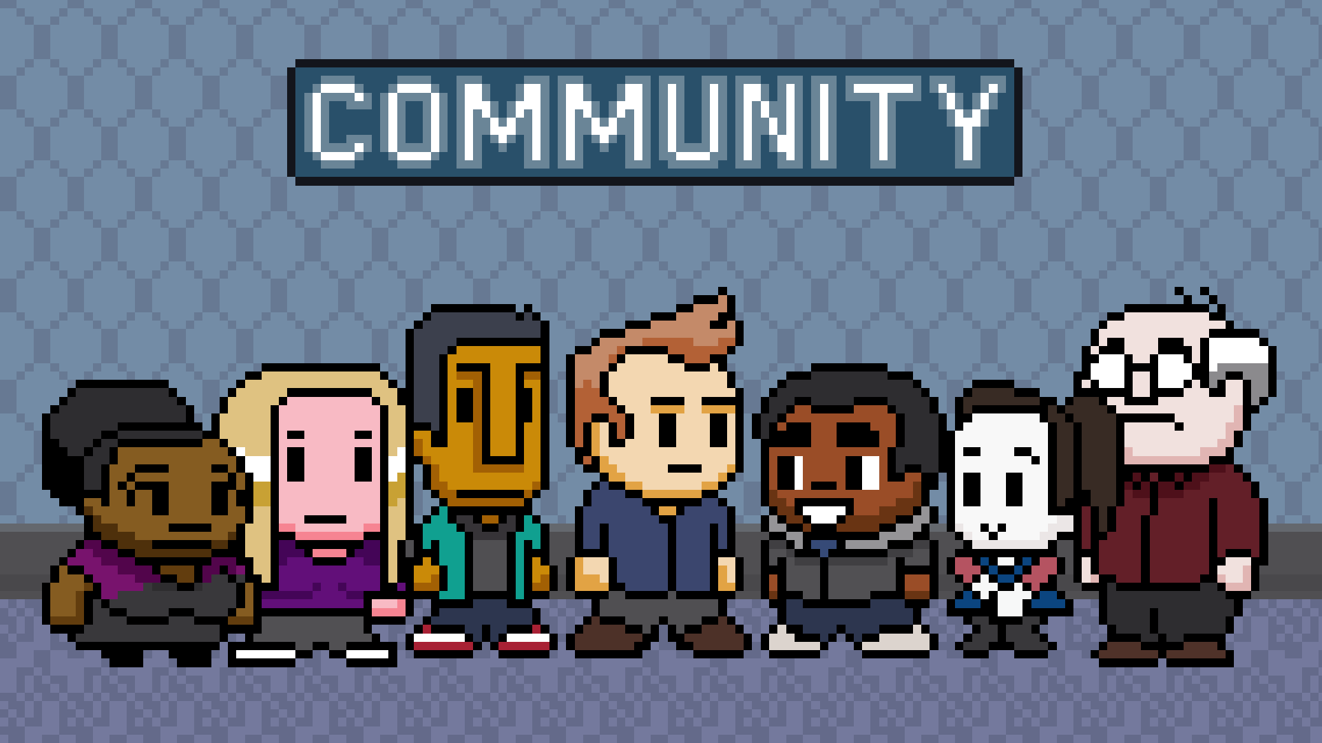 Community 8-bit wallpaper by zequihumano on DeviantArt