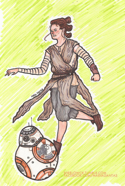 rey and bb-8 by Mobilicorpus
