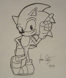 Sonic the Warm-Up Sketch