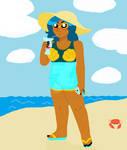 Mermista on the Beach by mustlovealll1fe
